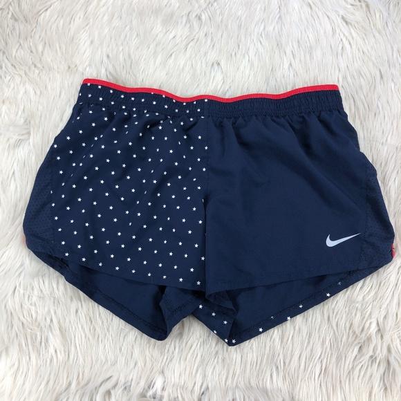Nike Star / Flag Running Athletic Shorts